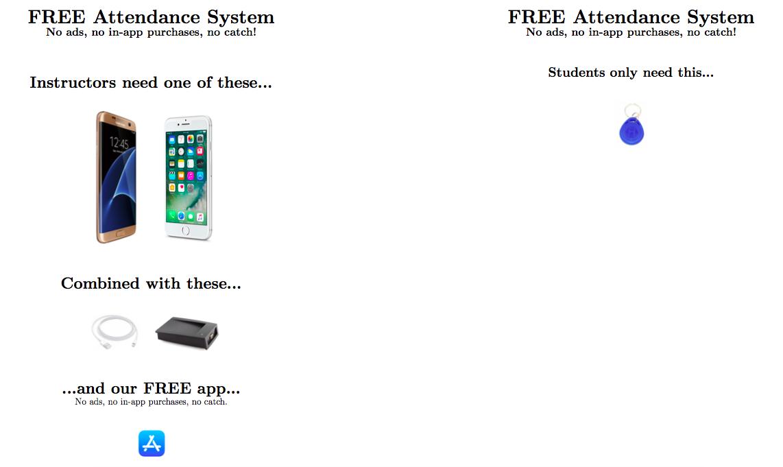 Free! groundbreaking attendance system